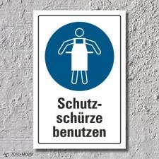 """Schild """"Schutzschürze benutzen"""", DIN ISO..."""