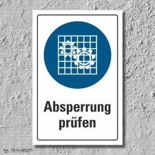 """Schild """"Absperrung benutzen"""", DIN ISO 7010, 3..."""