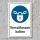 """Schild """"Verschlossen halten"""", DIN ISO 7010, 3 mm Alu-Verbund"""