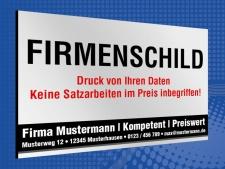 Werbeschild Firmenschild Foto Logo Eigenes Design 3 mm...