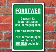"""Schild """"Forstweg"""", 3 mm Alu-Verbund"""