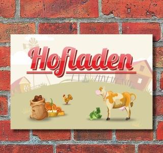 """Schild """"Hofladen"""", 3 mm Alu-Verbund"""