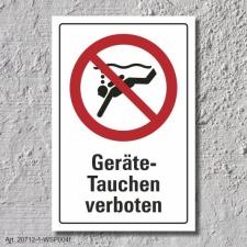 """Verbotsschild """"Geräte Tauchen verboten"""",..."""