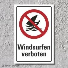 """Verbotsschild """"Windsurfen verboten"""", DIN ISO..."""