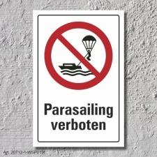 """Verbotsschild """"Parasailing verboten"""", DIN ISO..."""