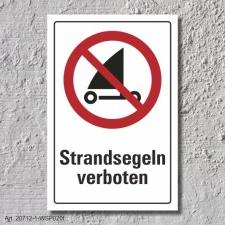 """Verbotsschild """"Strandsegeln verboten"""", DIN ISO..."""
