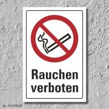 """Verbotsschild """"Rauchen verboten"""", DIN ISO 7010,..."""
