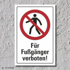 """Verbotsschild """"Fußgänger verboten"""",..."""