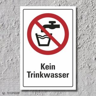 """Verbotsschild """"Kein Trinkwasser"""", DIN ISO 7010, 3 mm Alu-Verbund"""