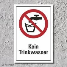 """Verbotsschild """"Kein Trinkwasser"""", DIN ISO 7010,..."""