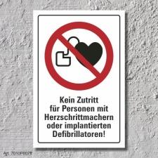 """Verbotsschild """"Herzschrittmacher verboten"""", DIN..."""