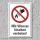 """Verbotsschild """"Wasser löschen verboten"""", DIN ISO 7010, 3 mm Alu-Verbund"""