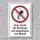 """Verbotsschild """"Kein Zutritt, Implantate"""", DIN ISO 7010, 3 mm Alu-Verbund"""