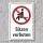 """Verbotsschild """"Sitzen verboten"""", DIN ISO 7010, 3 mm Alu-Verbund"""