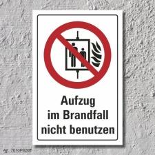 """Verbotsschild """"Aufzug nicht benutzen"""", DIN ISO..."""