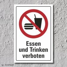 """Verbotsschild """"Essen und trinken verboten"""", DIN..."""