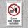 """Verbotsschild """"Essen und trinken verboten"""", DIN ISO 7010, 3 mm Alu-Verbund"""