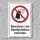 """Verbotsschild """"Handschuhe verboten"""", DIN ISO 7010, 3 mm Alu-Verbund"""