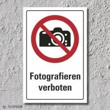 "Verbotsschild ""Fotografieren verboten"", DIN ISO..."