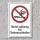 """Verbotsschild """"Nicht zulässig für Seitenschleifen"""", DIN ISO 7010, 3 mm Alu-Verbund"""