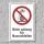 """Verbotsschild """"Nicht zulässig für Nassschleifen"""", DIN ISO 7010, 3 mm Alu-Verbund"""