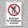 """Verbotsschild """"Besteigen für Unbefugte verboten"""", DIN ISO 7010, 3 mm Alu-Verbund"""