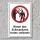 """Verbotsschild """"Schwenkarm"""", DIN ISO 7010, 3 mm Alu-Verbund"""