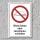 """Verbotsschild """"Falten, zusammenschieben"""", DIN ISO 7010, 3 mm Alu-Verbund"""