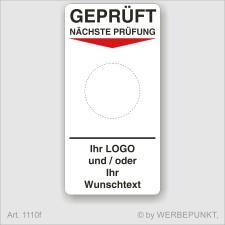 """Grundetikett """"Geprüft"""", 45 x 90 mm, BGR,..."""