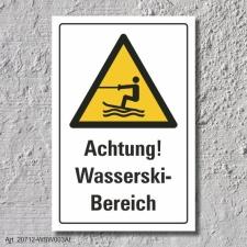 """Warnschild """"Wasserski Bereich"""", DIN ISO 20712,..."""