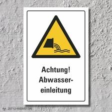 """Warnschild """"Abwassereinleitung"""", DIN ISO 20712,..."""