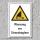 """Warnschild """"Warnung vor Strandseglern"""", DIN ISO 20712, 3 mm Alu-Verbund"""
