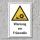 """Warnschild """"Fräswelle"""", DIN ISO 7010, 3 mm Alu-Verbund"""