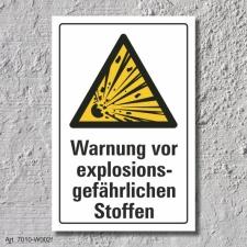 """Warnschild """"Explosionsgefährliche Stoffe"""",..."""