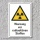 """Warnschild """"Radioaktive Stoffe"""", DIN ISO 7010, 3 mm Alu-Verbund"""