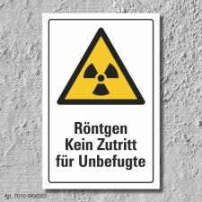 "Warnschild ""Röntgen, kein Zutritt"", DIN..."