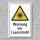 """Warnschild """"Laserstrahl"""", DIN ISO 7010, 3 mm Alu-Verbund"""