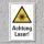 """Warnschild """"Achtung Laser"""", DIN ISO 7010, 3 mm Alu-Verbund"""