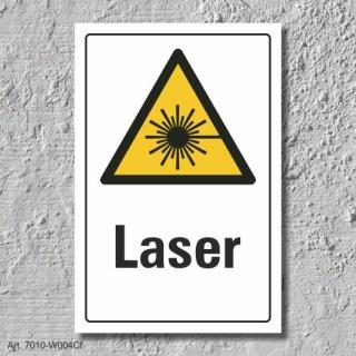 """Warnschild """"Laser"""", DIN ISO 7010, 3 mm Alu-Verbund"""