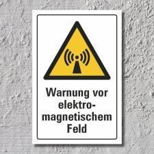 "Warnschild ""Elektromagnetisches Feld"", DIN ISO..."