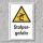"""Warnschild """"Stolpergefahr"""", DIN ISO 7010, 3 mm Alu-Verbund  300 x 200 mm"""