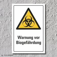 "Warnschild ""Biogefährdung"", DIN ISO 7010,..."