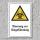 """Warnschild """"Biogefährdung"""", DIN ISO 7010, 3 mm Alu-Verbund"""