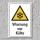 """Warnschild """"Warnung vor Kälte"""", DIN ISO 7010, 3 mm Alu-Verbund"""