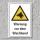 """Warnschild """"Wachhund"""", DIN ISO 7010, 3 mm Alu-Verbund"""