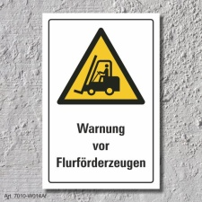 "Warnschild ""Flurförderzeuge"", DIN ISO..."