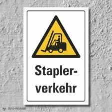 "Warnschild ""Staplerverkehr"", DIN ISO 7010, 3 mm..."