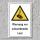 """Warnschild """"Schwebende Last"""", DIN ISO 7010, 3 mm Alu-Verbund"""
