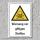 """Warnschild """"Warnung vor giftigen Stoffen"""", DIN ISO 7010, 3 mm Alu-Verbund"""