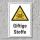 """Warnschild """"Giftige Stoffe"""", DIN ISO 7010, 3 mm Alu-Verbund"""